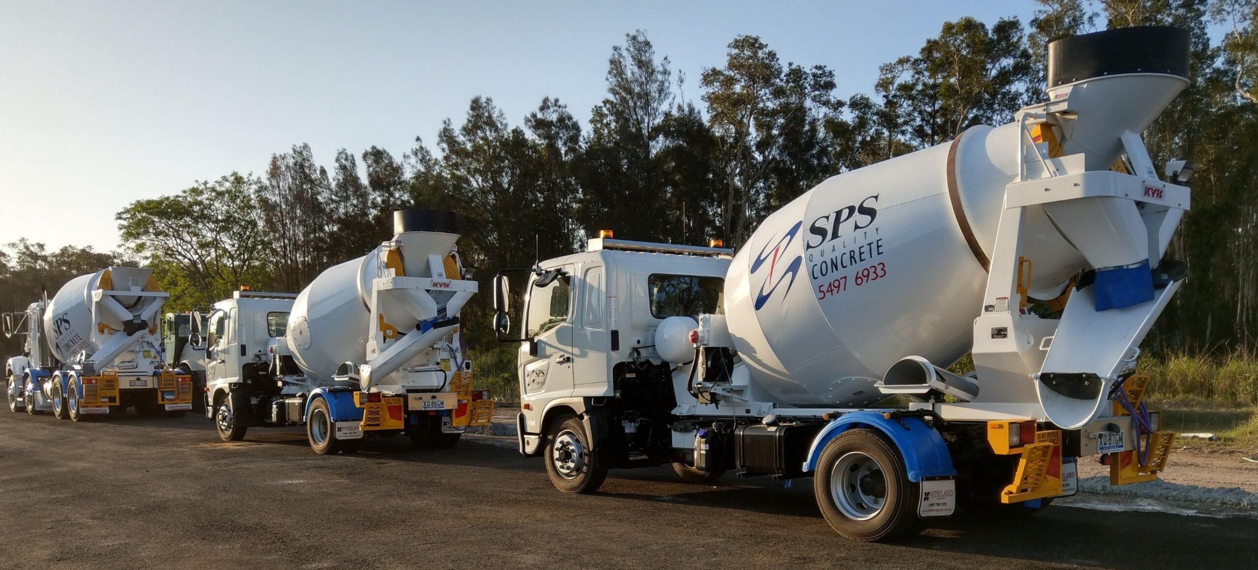 SP Sands Quality Concrete trucks